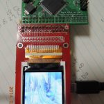 液晶とSDカード、CPLD、水晶を基板にまとめました。