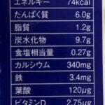 カルシウム・鉄が強化された乳飲料の栄養比較。すっきりCa鉄・ラブ・カルシウムと鉄分の多いミルク。