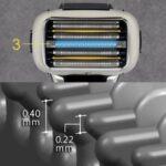 ES-LV5GとES-LV5Fの2つの違い。外刃の形状と充電残量表示。